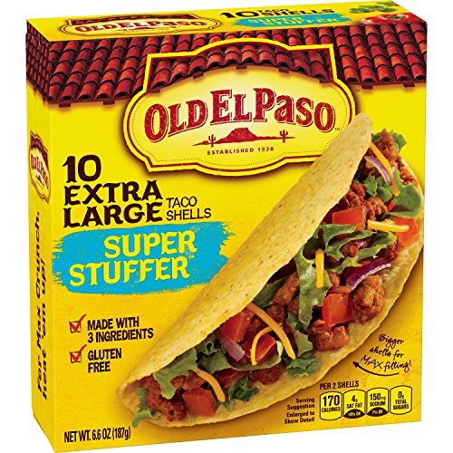 Old El Paso Extra Large Taco Shells, Super Stuffer, 10 Count