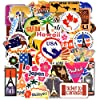 Waterproof Vinyl Stickers for Laptop Luggage Scrapbook Postcard (100Pcs Travel Style) #1