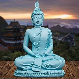 TUKURIO Fengshui Buddha Statue Thailand Sculpture Blue Resin Hindu Figurines Miniatures Vintage Home Decor Gifts