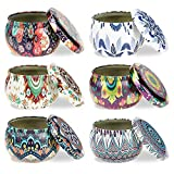SJENERT 6 PCS Candle Tin Jars, DIY Candle Making kit Holder Storage case for Dry Storage Spices, Camping, Party Favors, and Sweets Gifts
