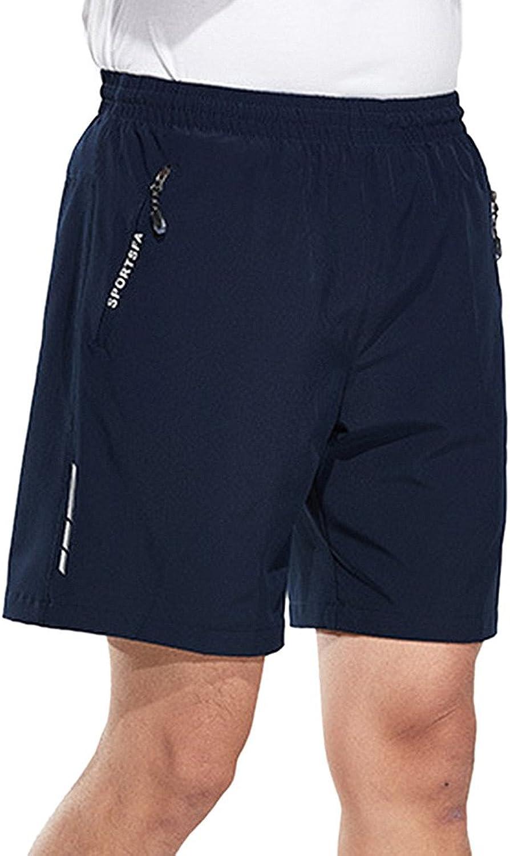 Aufgevals Men's Outdoor Quick Drying Drawstring Camping Hiking Shorts