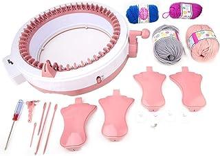 Machine Tissée à la Main en Plastique Machine à Coudre Jeux d'Outils de Tissage Parent-Enfant (48 aiguilles)