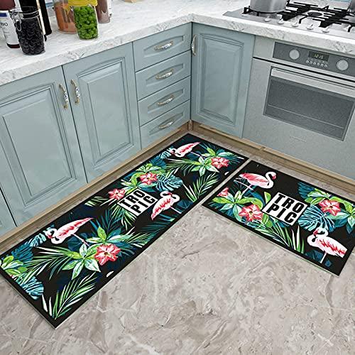 HLXX Alfombra de Cocina de Moda para Piso, Alfombra Antideslizante para Entrada de baño, alfombras absorbentes, Sala de Estar, Almohadilla para niños, A1 40x60cm
