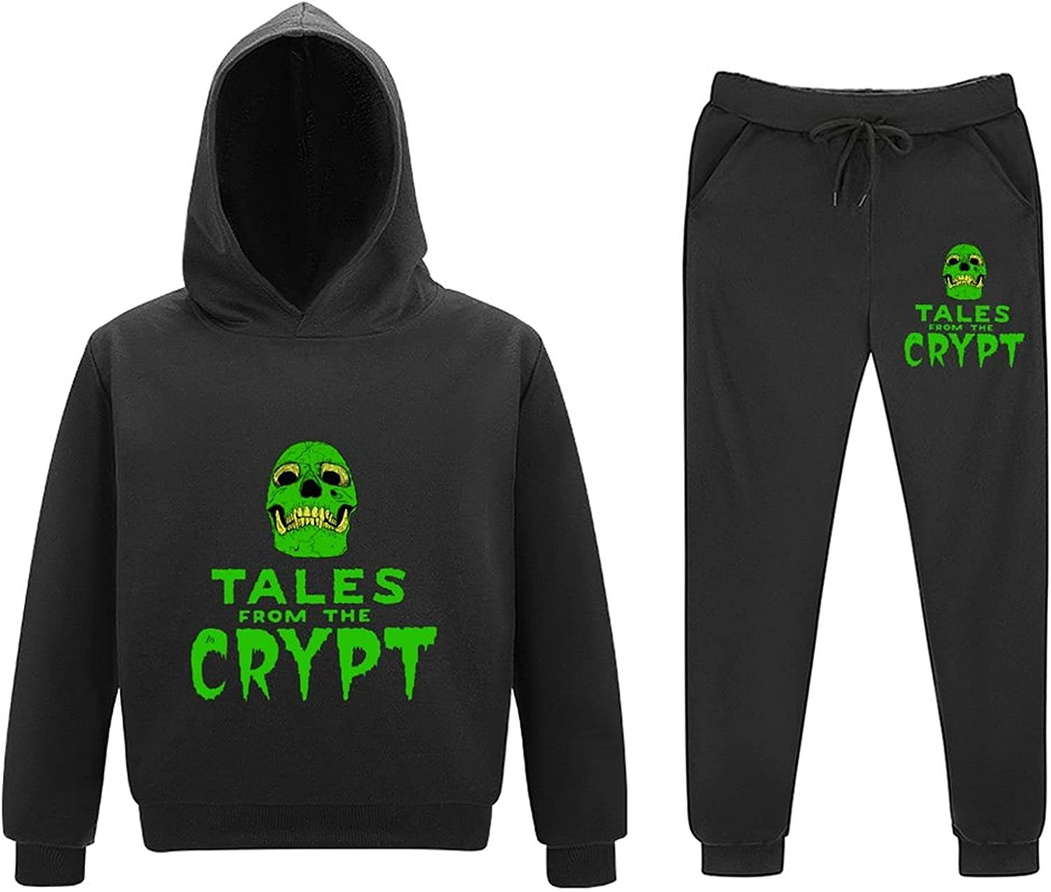5-11Y Tal-es from The Crypt Little Boy Girls Sweatsuits 2 Piece Outfits Toddler Tee Kids Pants Set Child Pullover