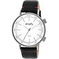Simplify The 3300 Leather-Band Unisex Watch (various colors)