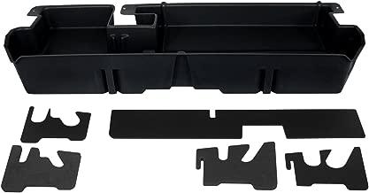 DU-HA Under Seat Storage Fits 07-17 Toyota Tundra Double Cab without Subwoofer, Black, Part #60051