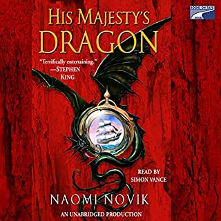 His Majesty's Dragon audiobook cover art