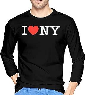 I Love NY New York Heart Men's Long Sleeve T-Shirt Slim Fit Running Tees