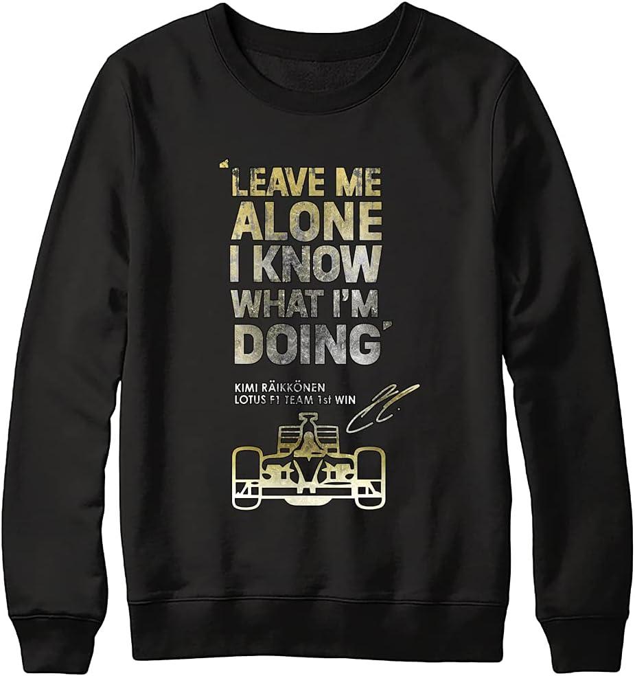 Kimi online shopping Raikkonen Free shipping on posting reviews Leave Me Alone Graphic Women Shirts for Tee V Men