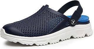 Sabot Uomo Sandali da Spiaggia e Piscina Leggeri Scarpe da Giardino Estive Comodo Pantofole Estate Interno e Esterno