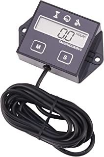 AIMILAR Digital Engine Tach Hour Meter Tachometer Gauge for Small Engine Boat Generator Lawn Mower Motorcycle Motocross ATV Snowmobile UTV (Non-Replaceable Battery)