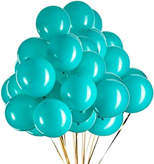 12 inch Turquoise Balloons Teal Balloons Party Latex Balloons Quality Helium Balloons, Party Decorations Supplies Balloon...