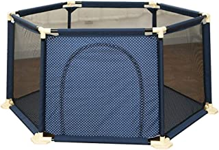 SXXDERTY-playard 6-Panel Baby Playpen Foldable Toddler Play Yard with Door and Breathable Mesh Kid s Safety Activity Center  Portable Travel Fence for Indoor and Outdoor 59 quot  70 8 quot