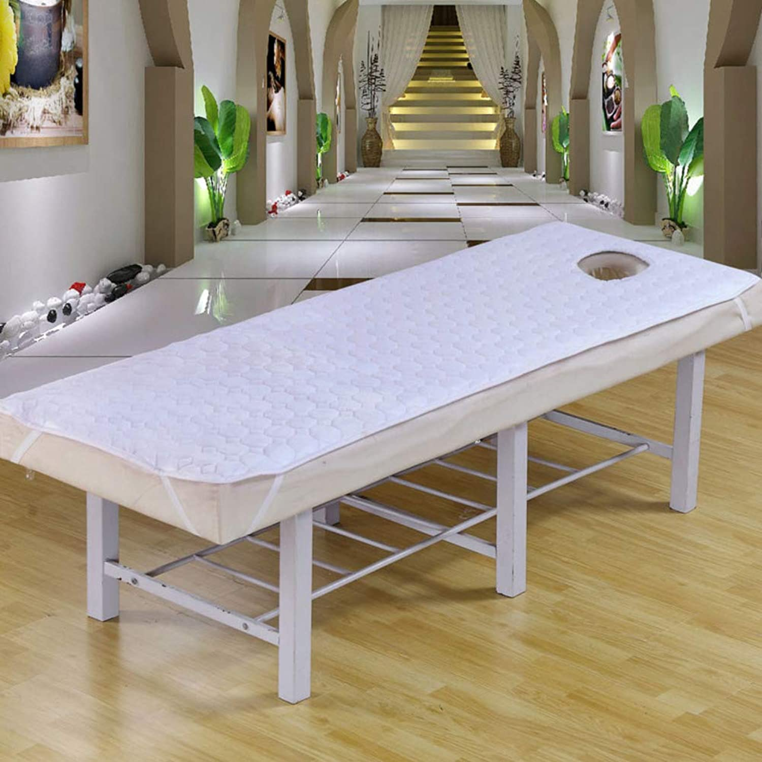 Soft Breathable Spa Massage Table Mattress Toppers,Mattress Predection pad Quilted Fitted Mattress Elastic Massage Beauty Salon-White 70x185cm(28x73inch)