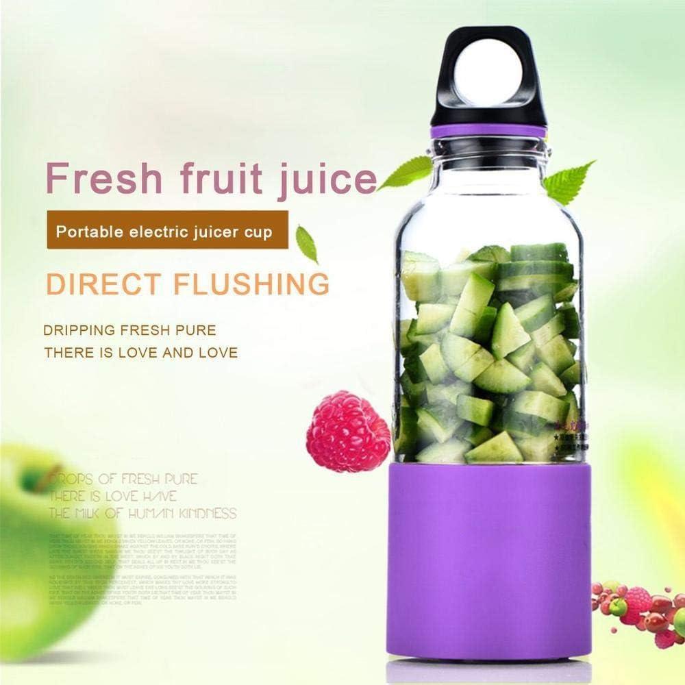 500ML Portátil Exprimidor Eléctrico Taza USB Recargable Automático Vegetal Fruta Juice Maker Cup Juice Extractor Licuadora Mezclador rosa Pink