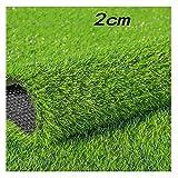 GHHZZQ Pelouse Synthetique Exterieur Haute Densité Anti-âge Terrasse Patio Gazon Synthetique, Hauteur de Poil 2/2,5 / 3cm GHHZZQ (Color : A, Size : 2x1m)
