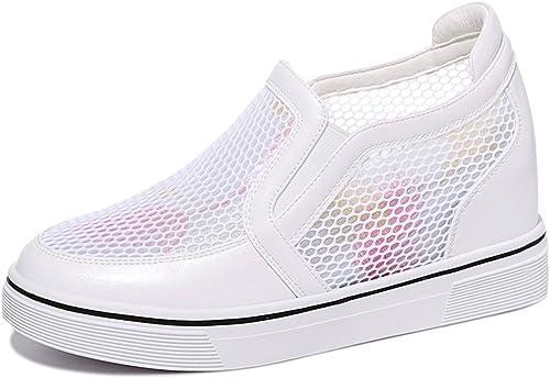 GTVERNH-Chaussures pour Femmes Lazy Summer Et Chaussures Face De Filet rose Rose à L'Intérieur.