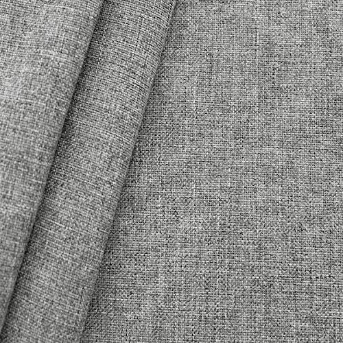 STOFFKONTOR Polsterstoff Möbelstoff Stoff Meterware Silber-Grau meliert