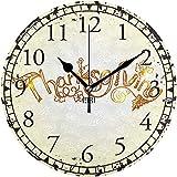 sam-shop Acción de Gracias Números arábigos Reloj de Pared Decorativo