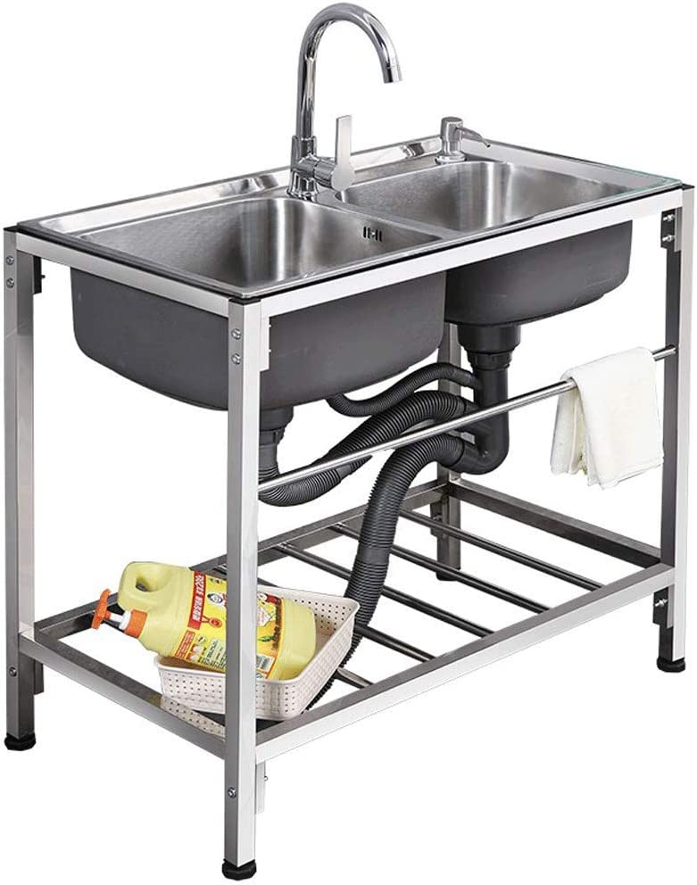 SHENRQIA Double Bowl Stainless Steel Acce with Sink mart Shipping included Kitchen