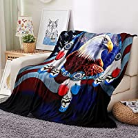 YMXMYJ 毛布、動物のワシ - フランネルブランケットは柔らかく、ふわふわで、軽くて洗えるので、オールシーズンに適しており、寝室、居間、キャンプなどに適しています 70x100 cm