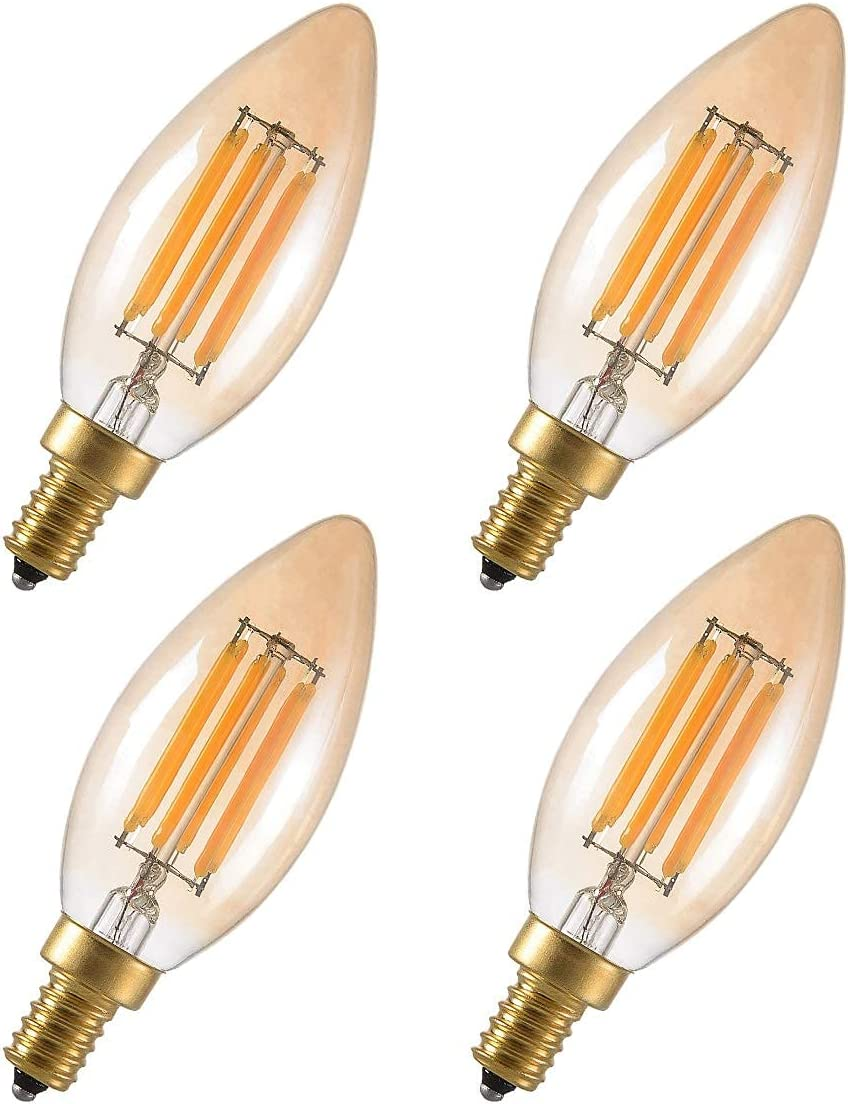 MaoTopCom LED Bulb Mesa Mall Super sale period limited Dimmable C35 Candelabra Light W 4 Bulbs