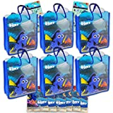 Disney Finding Dory Party Supplies Bundle - 16 Pc Finding Dory Party Decorations with Finding Dory Tote Bags, Temporary Tattoos, and Stickers