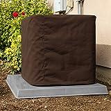 SugarHouse Outdoor Air Conditioner Cover - Ultimate Sunbrella Canvas - Made in The USA - 20-Year Warranty - 36' x 36' x 40' - True Brown