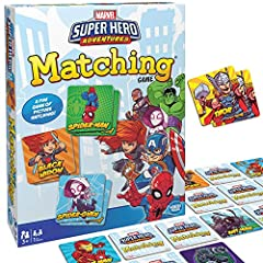 What you get – Marvel matching game comes with 72 tiles and instructions Clear instructions – Easy to learn with a clear instruction manual. Learn to play in less than five minutes Develops critical skills – this game helps preschoolers practice thei...