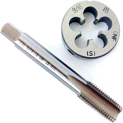 discount 9/16-18 4 Flutes HSS Bottom Taper RIight Hand Thread Tap And lowest Round online Thread Die Set online