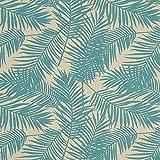 Fabulous Fabrics Dekostoff Halbpanama Palme 1 – mintgrün
