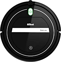 AIIBOT Aspirador Robot con Sistema de Limpieza de 3- Etapas, Sensor Inteligente de Detención de Caídas, Filtro HEPA, para Apartamentos/Casa Pequeña/Piso Duro/Alfombra de Pila Baja (T289-black)