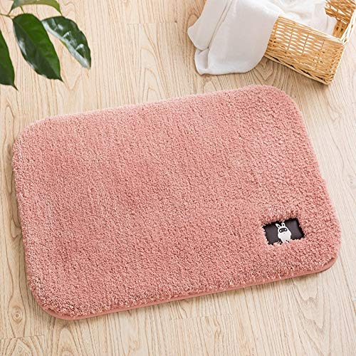 Carpet ZQE-LP High-Wool Microfiber Bathroom Bathroom Absorbent Floor Matte Soft Non-Slip Mat, C, 31X47In