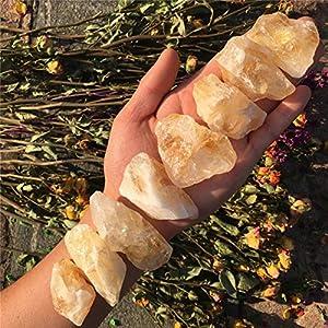Simurg Raw Citrine Stone ''A'' Grade Rough Citrine for Cabbing,Tumbling,Cutting,Lapidary,Polishing,Reiki Crytsal Healing (Brazil Citrine, 1 Pound)