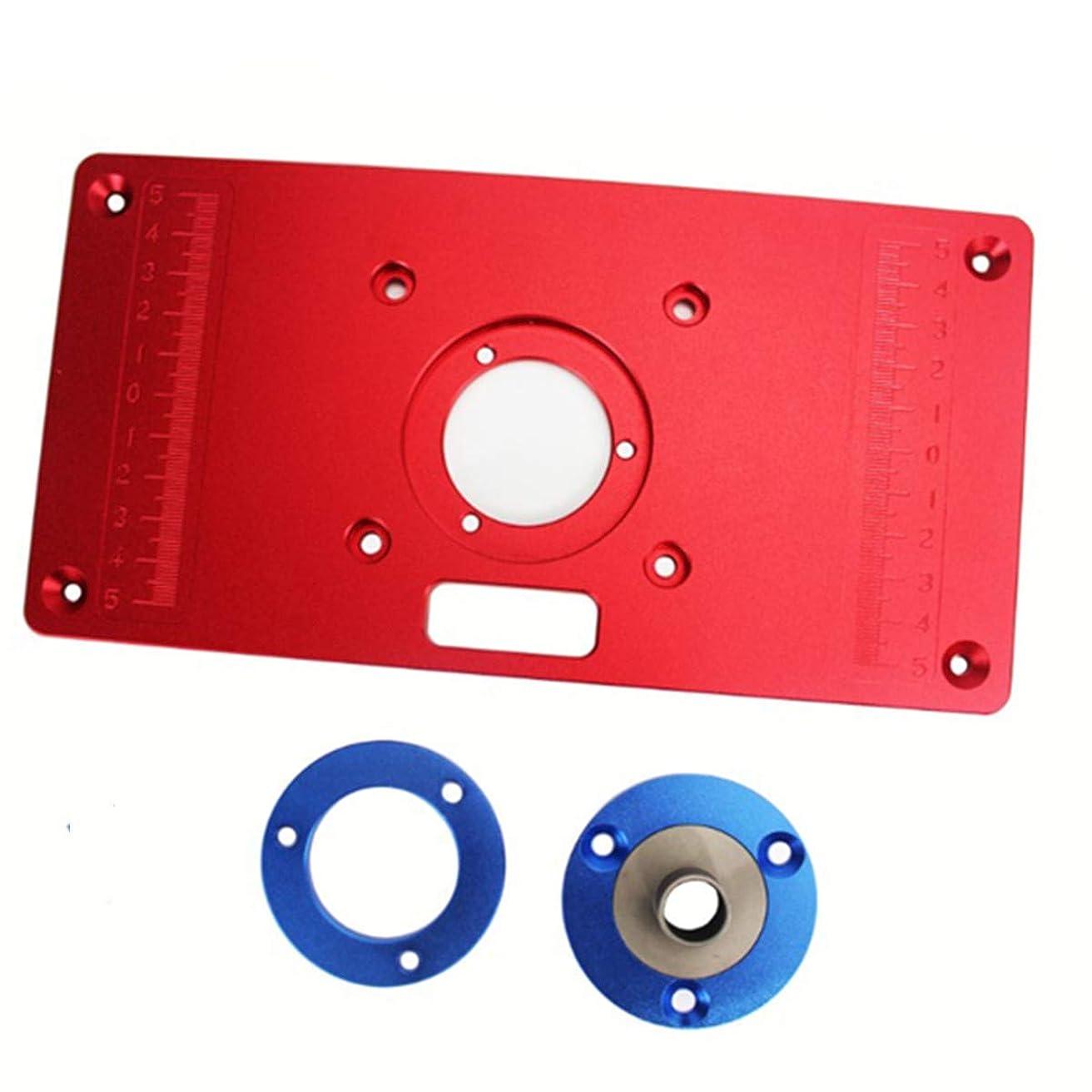 脈拍合併造船CarAngels ルーターテーブル用 アルミインサートプレートキット 木工ツール (汎用型)
