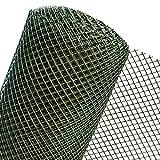1m² MASCHENGEWEBE in 1m Breite Kunststoffzaun Gartengitter Zaun aus Kunststoff Masche 15mm dunkelgrün (METERWARE) RO15/100HD