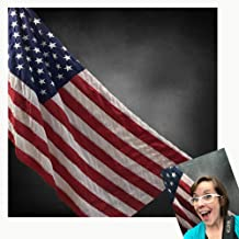 Kate 8x8ft American Flag Photography Backdrops Black Background for Independence Day Photo Booth Backdrop