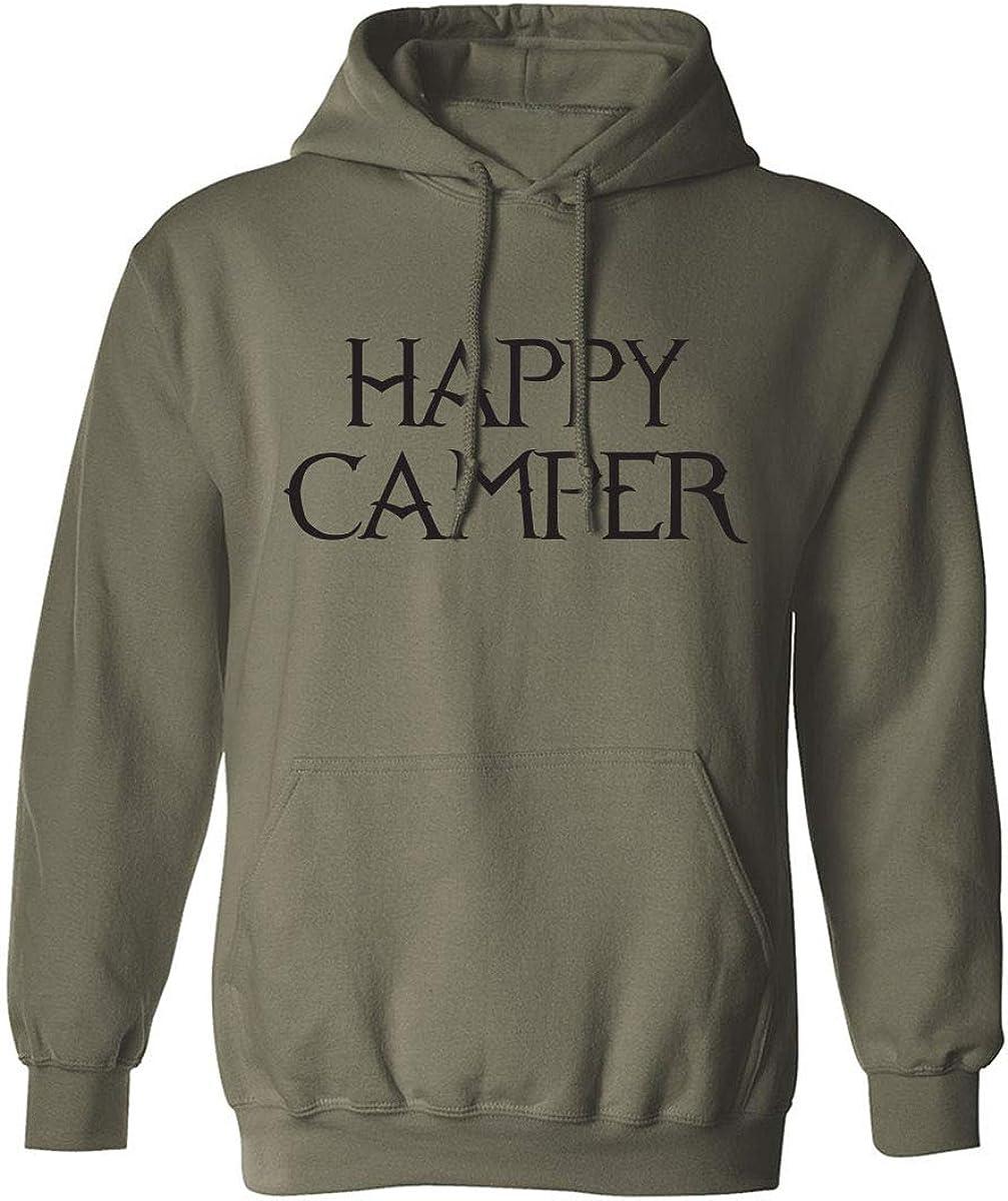 HAPPY CAMPER Adult Hooded Sweatshirt