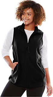 Woman Within Plus Size Zip-Front Microfleece Vest