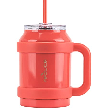 Amazon Com Reduce Tumbler 50 Oz Stainless Steel Insulated Mug With Handle And Lid And Straw 36 Hours Cold For Cold And Hot Drinks Sweat Proof Body Dishwasher Safe Cayenne