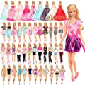 BARWA 16 Pack Doll Clothes and Accessories 5 PCS Fashion Dresses 5 Tops 5 Pants Outfits 3 PCS Wedding Gown Dresses 3 Sets Swimsuits Bikini for 11.5 inch Doll  by BARWA