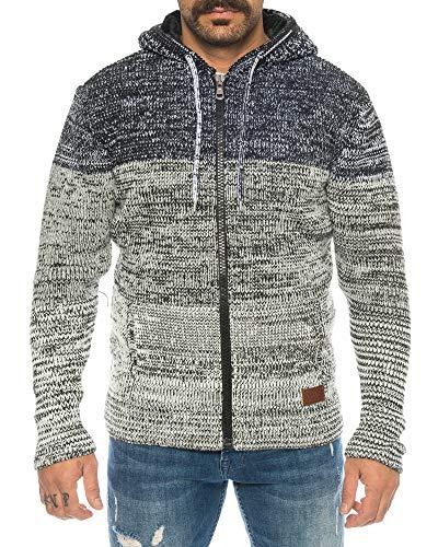 Raff & Taff gebreide herenjack gebreide trui tot 3XL | warm, zacht, wol | aangenaam voelen met stijl