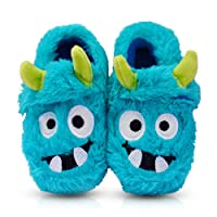 Image of Funny Monster Slippers for Toddlers and Boys