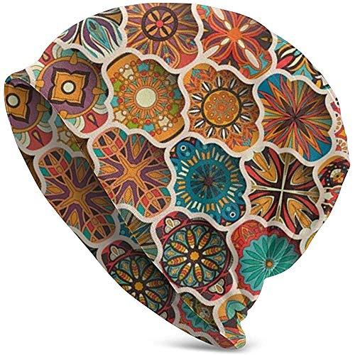 Mandala Floral étnica Patrón sin Costuras Gorro