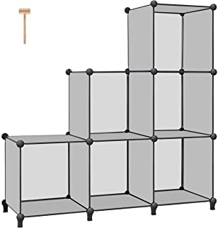 TomCare Cube Storage 6-Cube Book Shelf Storage Shelves Closet Organizer Cube Organizer Shelving Plastic Bookshelf Bookcase...