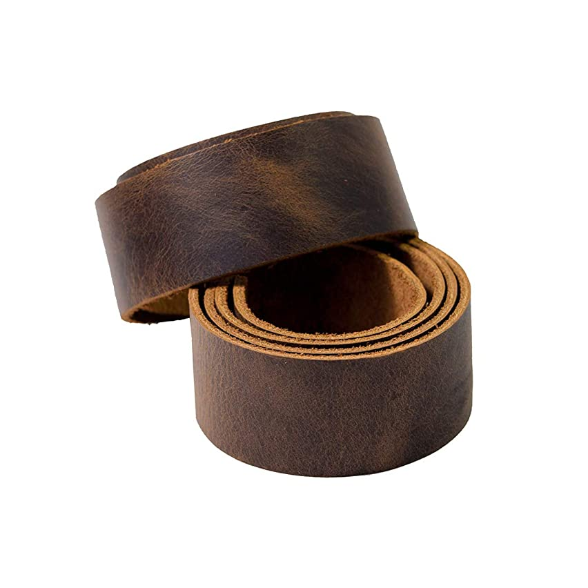 Hide & Drink, Leather Strong Strap (1.25 in.) Wide, Cord Braiding String, Medium Weight (1.8mm Thick) 75 in. Long for Crafts/Tooling/Workshop :: Bourbon Brown