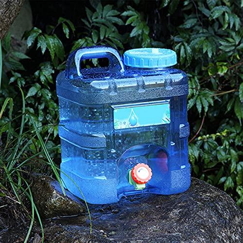 WOCAO Depósito de Agua con Grifo y Grifo de Acampada, Bidón de Agua Alimentario, Bidón de Agua con Grifo y Asa, Depósito de Agua Potable con Vertedor de Plástico Grueso