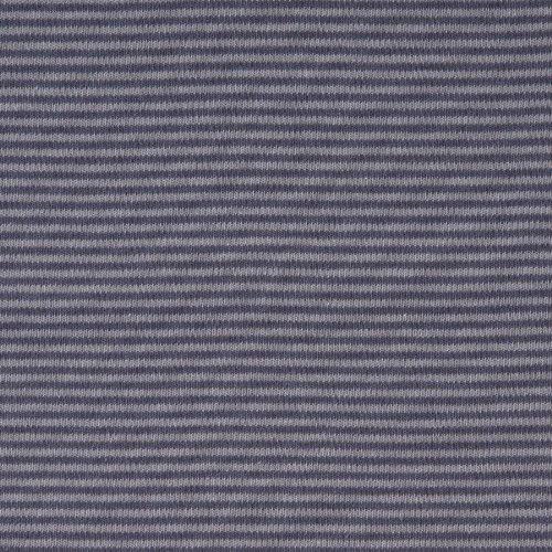 MIRABLAU DESIGN Stoffverkauf Bio Baumwolle Jersey GOTS Streifen grau (9-031M), 0,5m