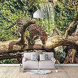 Fotomural Vinilo Pared Jaguar animal Fotomural para Paredes Mural Vinilo Decorativo 250x175cm Decoración comedores, Salones,Habitaciones