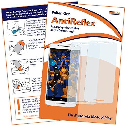 mumbi Schutzfolie kompatibel mit Motorola Moto X Play Folie matt, Bildschirmschutzfolie (2X)